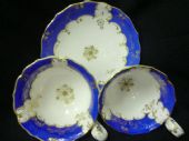 SOLD Coalport scroll handled tea & coffee trio